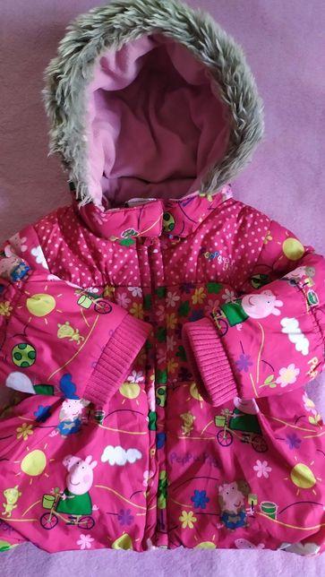 Куртка демисезон.зима Next Peppa Pig девочке на 1-1.5 года (12-18 мес
