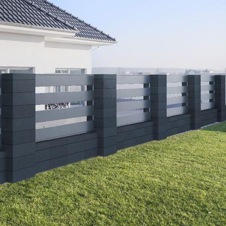 Ogrodzenie systemowe z bloczków, pustaki ogrodzeniowe-pustak 60x40x19