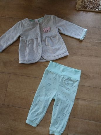 Komplet bluza marynarka spodnie 74 C&A