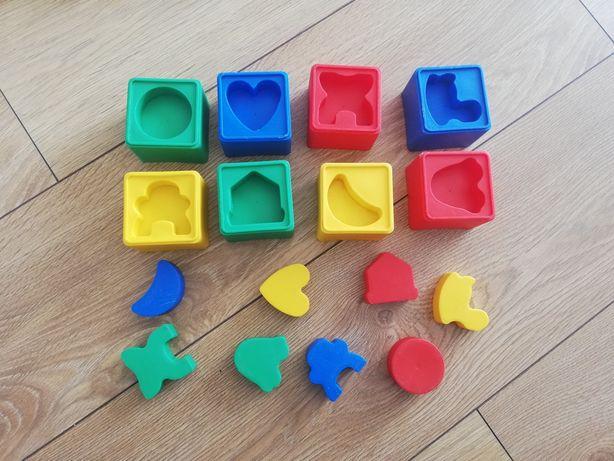 Klocki układanka dopasowywanie kształtów
