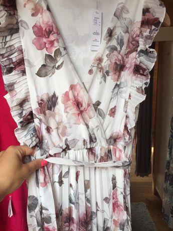 Sukienka nowa długa w kwiatki