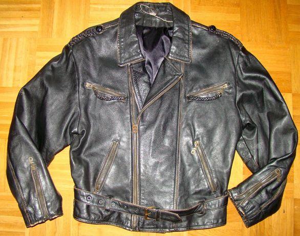 Oldschool super ramoneska kurtka skórzana męska 50/52 M/L wzr 172