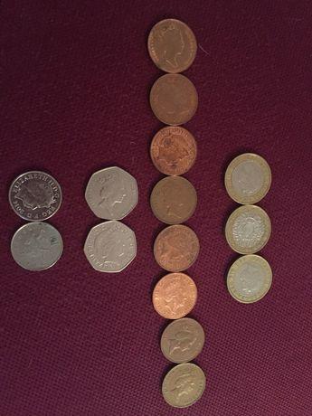 Монети , pence,pounds
