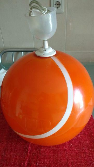 Candeeiro oval em vidro termopintado