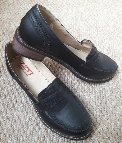 Туфли лоферы женские 39р на 25см стелька