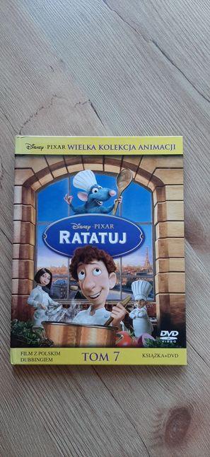 Zestaw łączony film DVD + książka Ratatuj