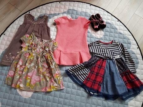 Sukienki dla dziewczynki 6szt+buty