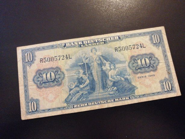 Banknot 10 marek 1949