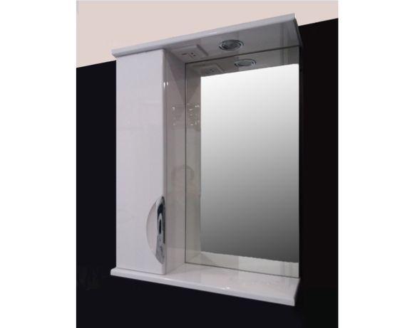 Зеркало со шкафом, подсветкой и розеткой 50, 55, 60, 65, 70, 75, 80.