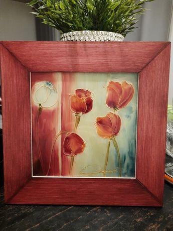 Obraz ręcznie malowany na szkle
