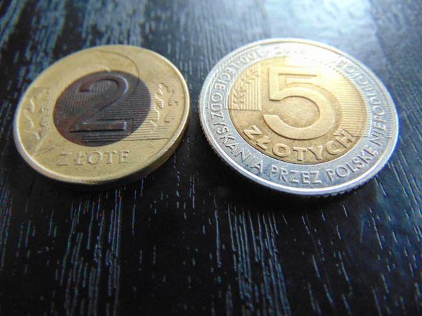 2 złote 1994,95r.,5 złote 2018 rok