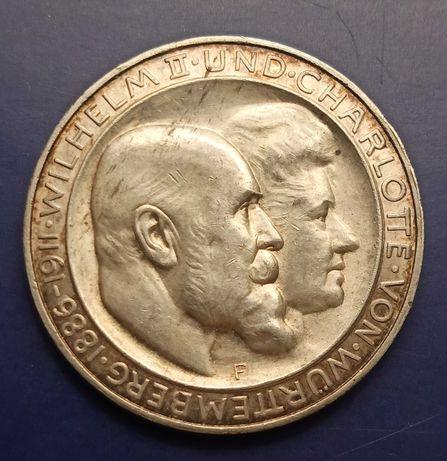 3 марки 1911 року. Вюртемберг