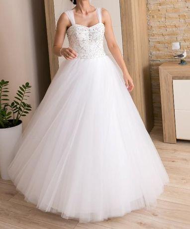 Suknia ślubna rozmiar 36/38 wzrost 165 + Gratisy - OKAZJA -