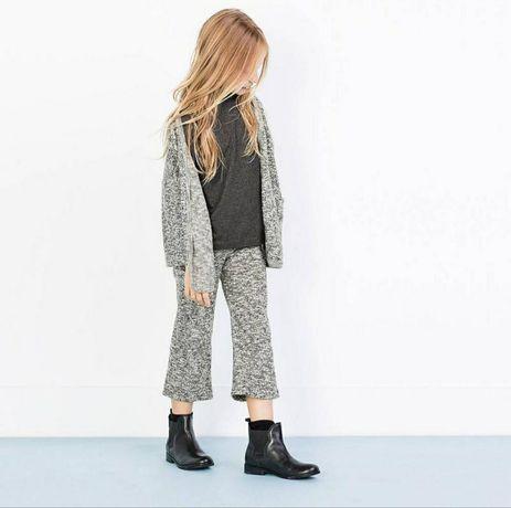 брюки кюлоты zara 4 5 штаны