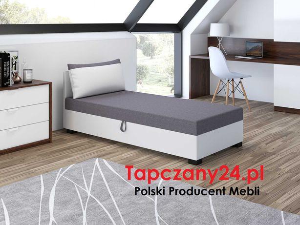 Łóżko młodzieżowe dziecięce hotelowe jednoosobowe Tapczan Sofa MATERAC
