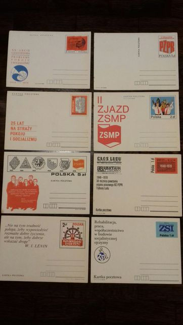 Karty pocztowe temat PZPR
