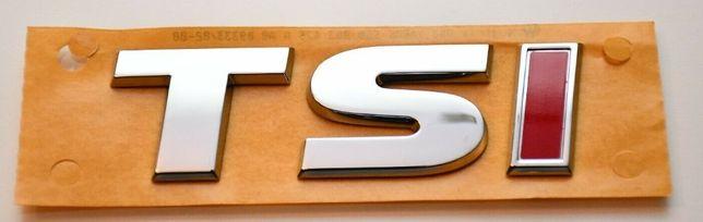 NOWY emblemat TSI znaczek przyklejany Audi Skoda Seat VW Volkswagen