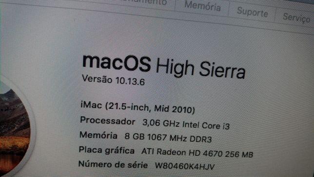 IMAC 21.5 I3 ano 2010