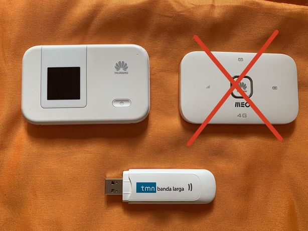 2 Routers usados 4G + 1 Pen banda laraga 3G