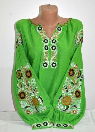 Жіноча вишиванка вышиванка вишита блуза розмір 46