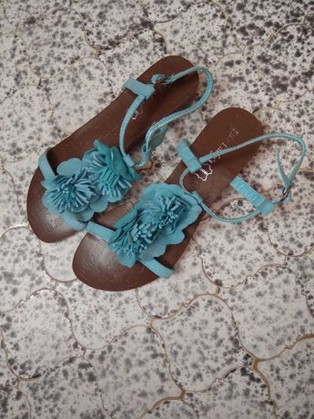 Sandały, buty na lato kolor turkusowy-NOWE