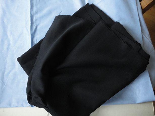 Ткань костюмная плотная черная синтетика Япония 70-е годы