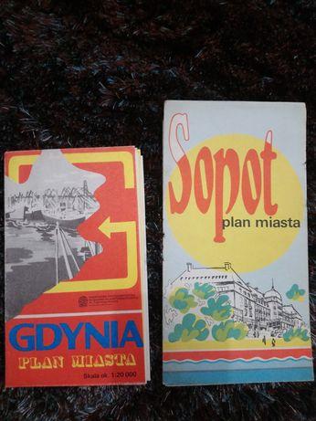 Mapa Sopotu 1981, Gdynia 1989