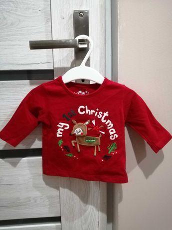 Czerwona świąteczna bluzka