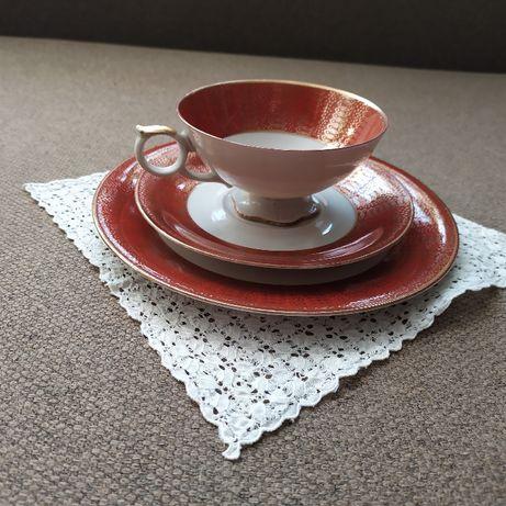 Stylowe porcelanowe TRIO kawowe filiżanka Bavaria Elfenbein