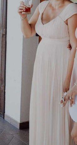 Sukienka plisowana jasna maxi rozmiar 42