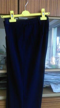 Spodnie ciemnoniebieskie materiałowe w kantkę 40-42 L-XL