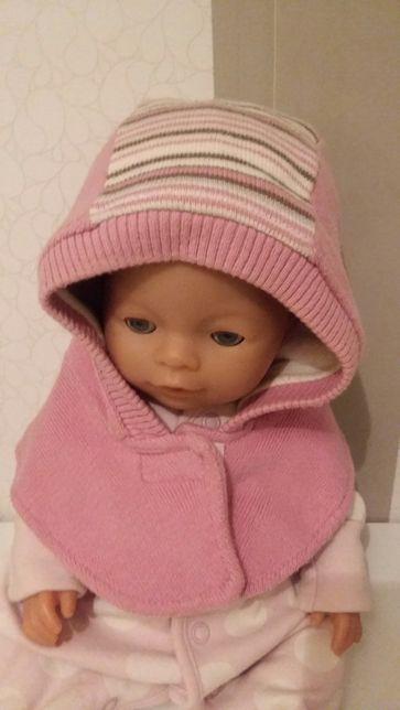 Теплая шапочка для девочки 47р