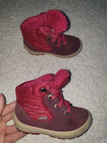 Superfit сапоги зимние ботинки на девочку розовые 22, 14см Ecco geox