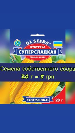Кукуруза Попкорн и Суперсладкая