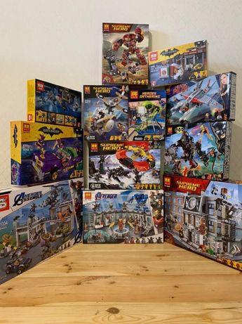 Ассортимент конструктора MARVEL МАРВЕЛ Супер Герои Мстители(LEGO ЛЕГО)