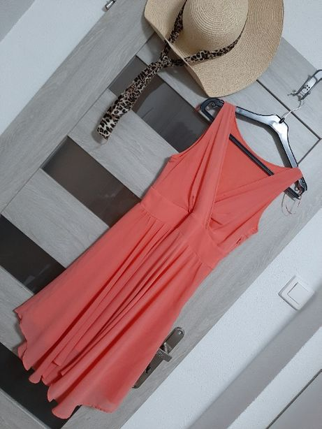 Zwiewna sukienka Orsay 36 w kolorze łososiowym