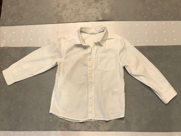 Czysta biała elegancka koszula dla chłopca H&M rozmiar 110