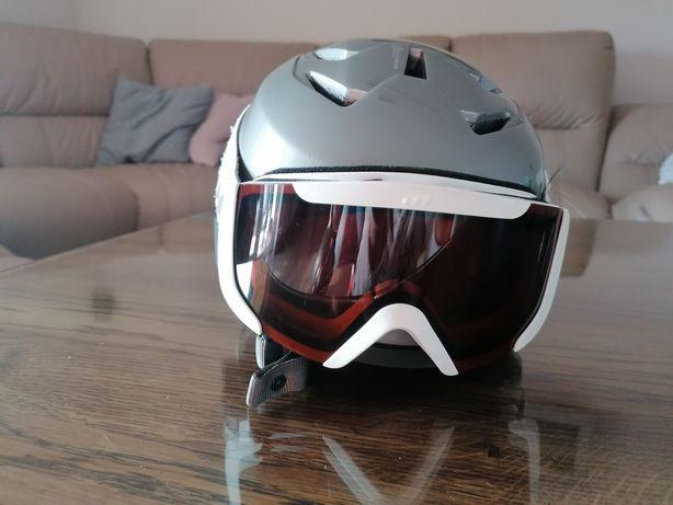 Kask narciarski + gogle