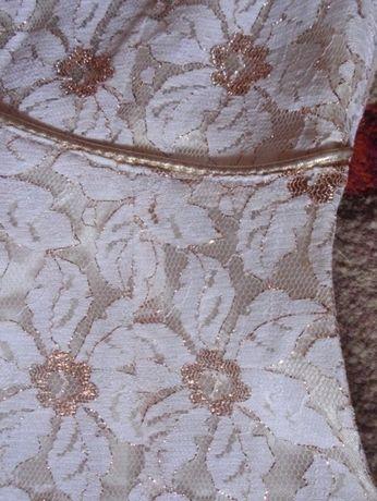 sukienka złota poprawiny wesele S/M