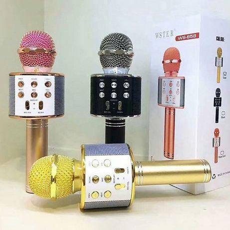 Караоке микрофон Bluetooth беспроводной WSTER 858 WS