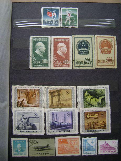 Znaczki pocztowe - Chińskie z lat 1949/60 = ponad 120 sztuk