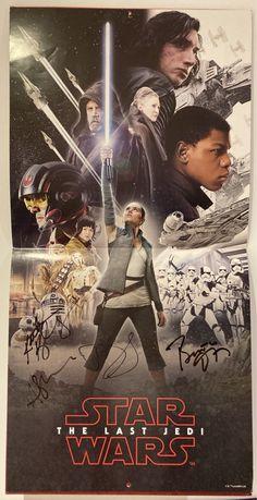 Star Wars - The Last Jedi - podpisany plakat / kalendarz