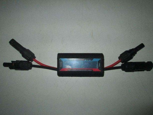 Medidor de Volts, Amperes e Watts com fichas para Paineis Fotovoltaico