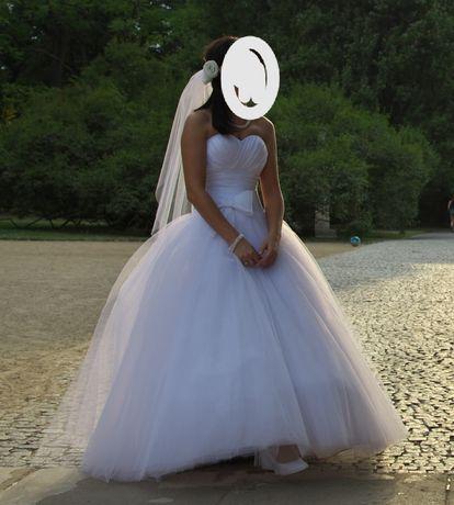 Piękna suknia ślubna księżniczka stan idealny