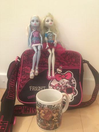 Monster High - torebka, lalki i kubek