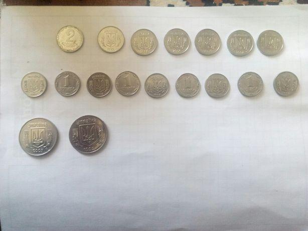 продам монеты 1,2,5 копейк 1 копейка 1992года, по 50 гр.