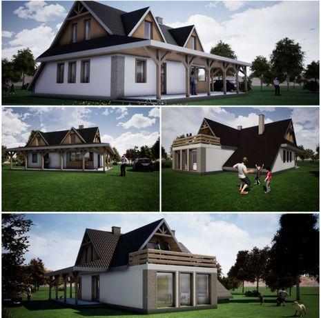 Piękny dom wolnostojący w malowniczej i cichej okolicy