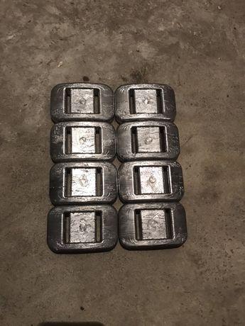 Balast nurkowy kafle 2 kg. Ołów . Cena za kg