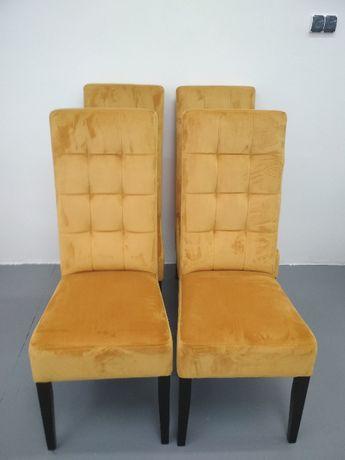 Krzesło Nowoczesne Tapicerowane Pikowane