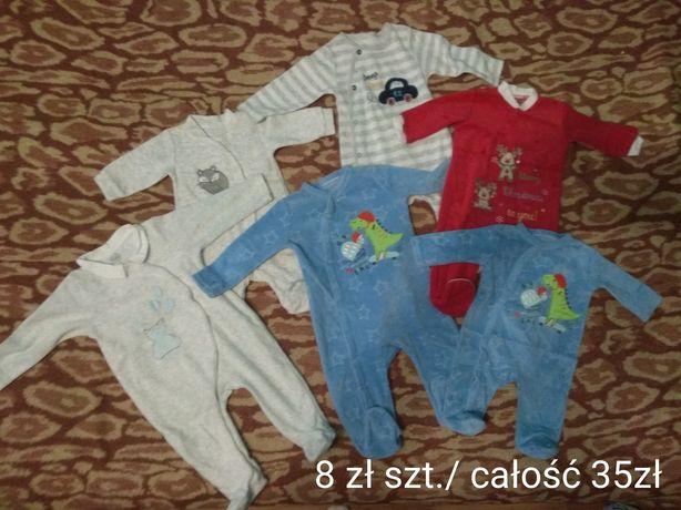 Sprzedam ciepłe pajacyki niemowlęce 6 szt. 56-68